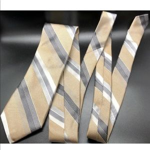 Robert Talbott XL Carmel Gold Silver Necktie